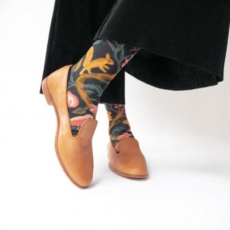 socks - bonne maison -  Squirrel - Dark - women - men - mixed
