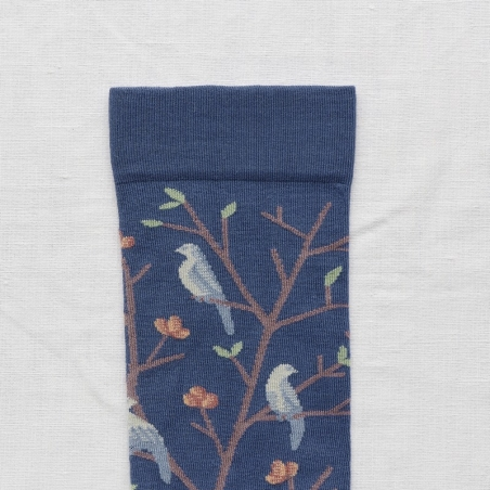 socks - bonne maison -  Birds - Denim - women - men - mixed