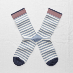 socks - bonne maison -  Stripe - Storm - women - men - mixed