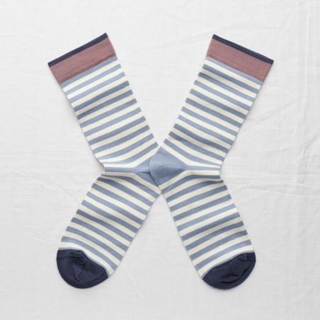 socks - bonne maison -  Stripe - Storm - women - men - mixed