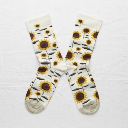 socks - bonne maison -  Sunflower - Natural - women - men - mixed