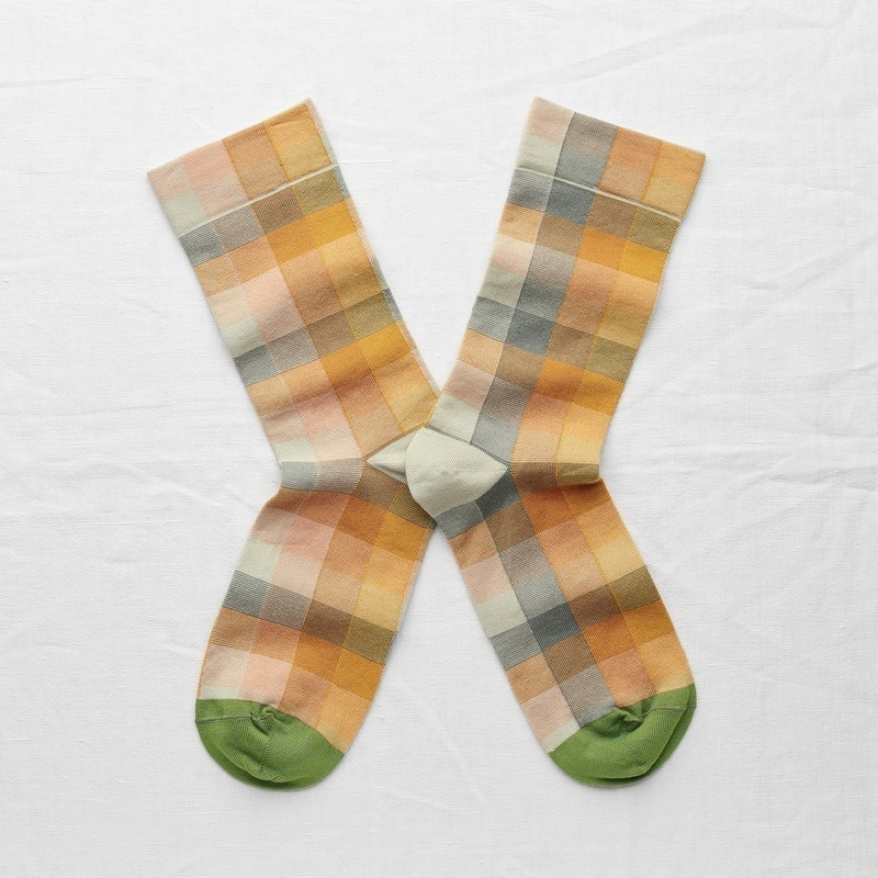 socks - bonne maison -  Checks - Multico - women - men - mixed