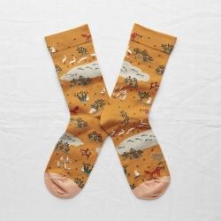 chaussettes - bonne maison -  Renard - Gold - femme - homme - mixte