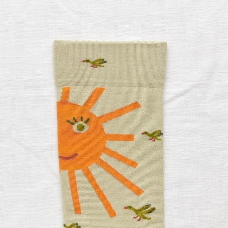 socks - bonne maison -  Sun - Sage - women - men - mixed