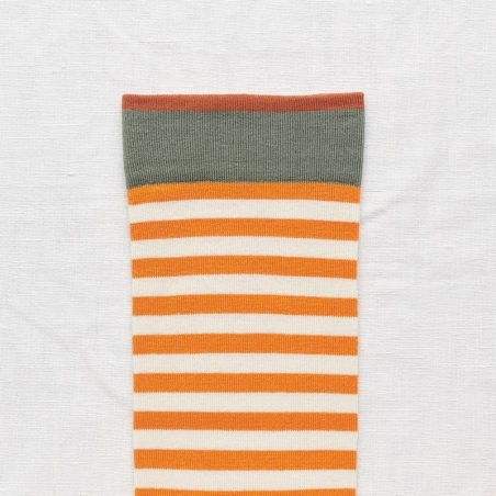 socks - bonne maison -  Stripe - Zest - women - men - mixed
