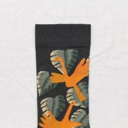 chaussettes - bonne maison -  Oiseaux - Faux noir - femme - homme - mixte