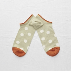 socks - bonne maison -  Polka Dot - Sage - women - men - mixed