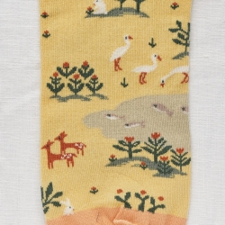 socks - bonne maison -  Fox - Wilted Yellow - women - men - mixed