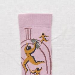 chaussettes - bonne maison -  Danse - Bois de rose - femme - homme - mixte