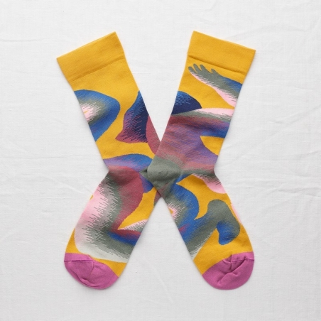 chaussettes - bonne maison -  Corps - Bouton d'or - femme - homme - mixte