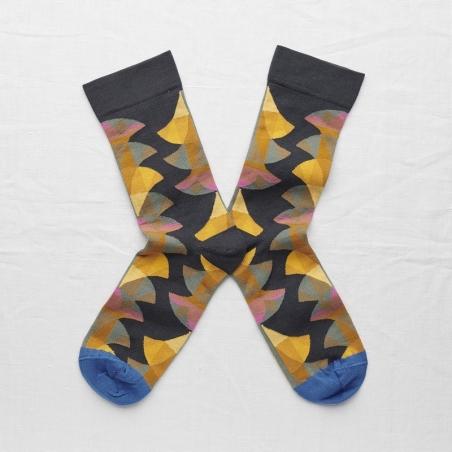 socks - bonne maison -  Palm - Night - women - men - mixed