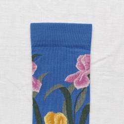 socks - bonne maison -  Iris - Cobalt - women - men - mixed