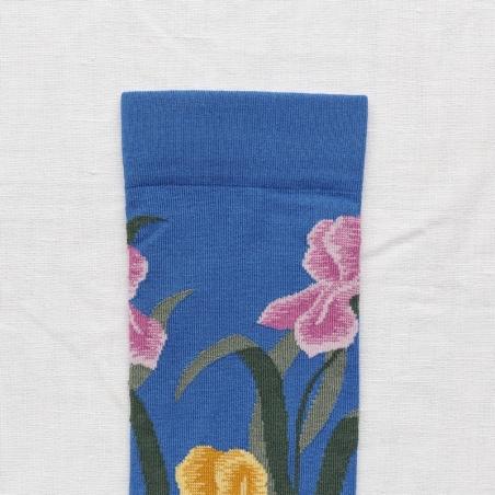 chaussettes - bonne maison -  Iris - Cobalt - femme - homme - mixte