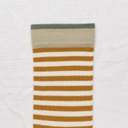 socks - bonne maison -  Stripe - Honey - women - men - mixed