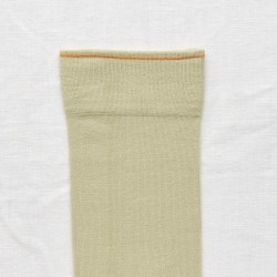 socks - bonne maison -  Plain - Sage - women - men - mixed