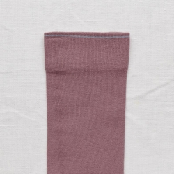 socks - bonne maison -  Plain - Grape - women - men - mixed