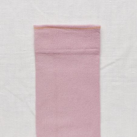 socks - bonne maison -  Plain - Rosewood - women - men - mixed