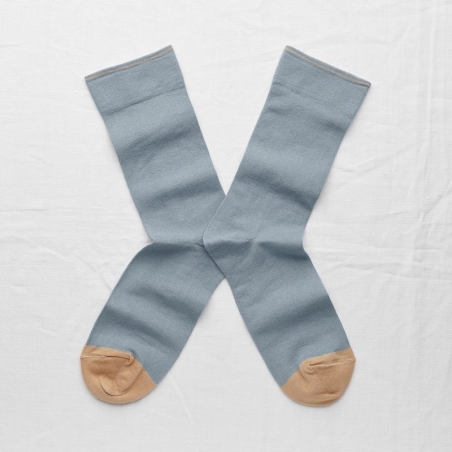chaussettes - bonne maison -  Uni - Orage - femme - homme - mixte