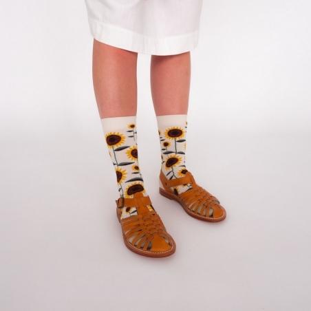 chaussettes - bonne maison -  Tournesol - Naturel - femme - homme - mixte
