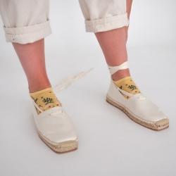 chaussettes - bonne maison -  Renard - Jaune fané - femme - homme - mixte