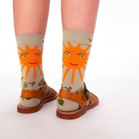 chaussettes - bonne maison -  Soleil - Sauge - femme - homme - mixte