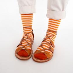 chaussettes - bonne maison -  Rayure - Zeste - femme - homme - mixte