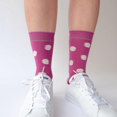 chaussettes - bonne maison -  Pois - Orchidée - femme - homme - mixte