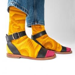 chaussettes - bonne maison -  Hippo - Bouton d'or - femme - homme - mixte