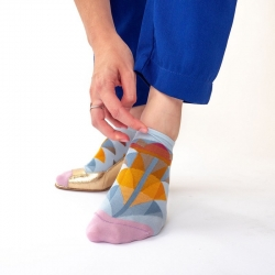 Ankle Socks Sky Palm