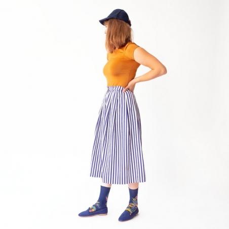 chaussettes - bonne maison -  Fleur - Bleu - femme - homme - mixte