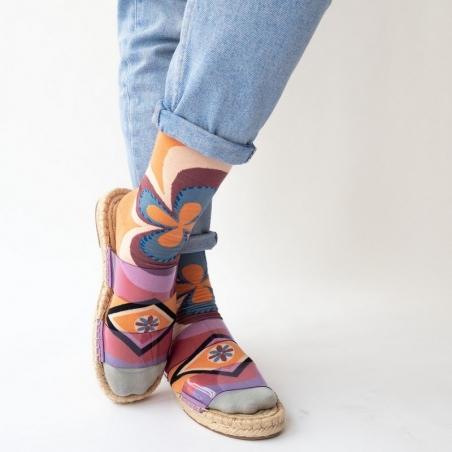chaussettes - bonne maison -  Rosace - Adobe - femme - homme - mixte