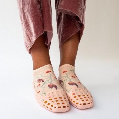 Ankle Socks Rosebud Pink Birds