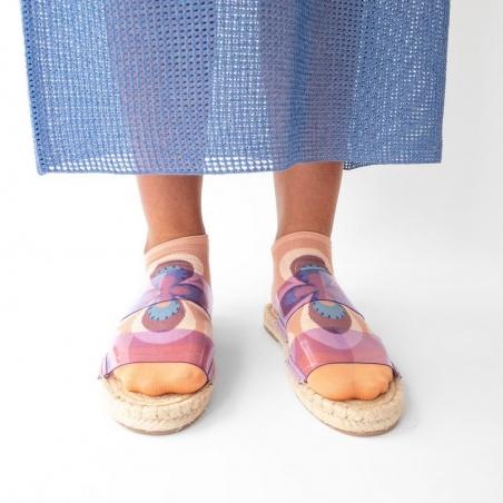 chaussettes - bonne maison -  Rosace - Nude - femme - homme - mixte