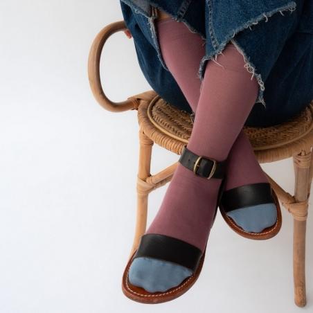 chaussettes - bonne maison -  Uni - Raisin - femme - homme - mixte