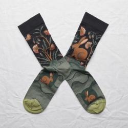 chaussettes - bonne maison -  Lièvre - Faux noir - femme - homme - mixte