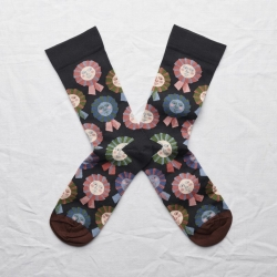 socks - bonne maison -  Rosette - Dark - women - men - mixed