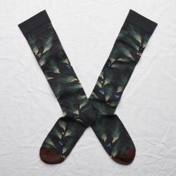 socks - bonne maison -  Leaf - Dark - women - men - mixed