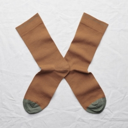 socks - bonne maison -  Plain - Caramel - women - men - mixed