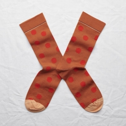 socks - bonne maison -  Polka Dot - Pumpkin - women - men - mixed