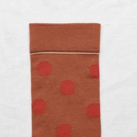 socks - bonne maison -  Polka Dot - Pumpkin - women - men - mixed