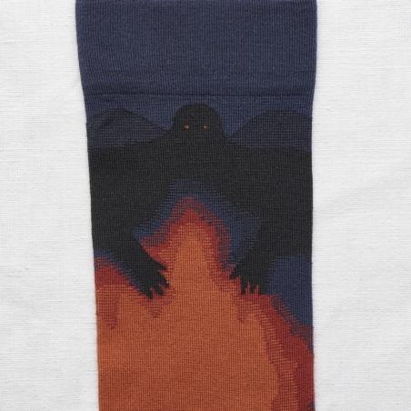 socks - bonne maison -  Demon - Slate - women - men - mixed