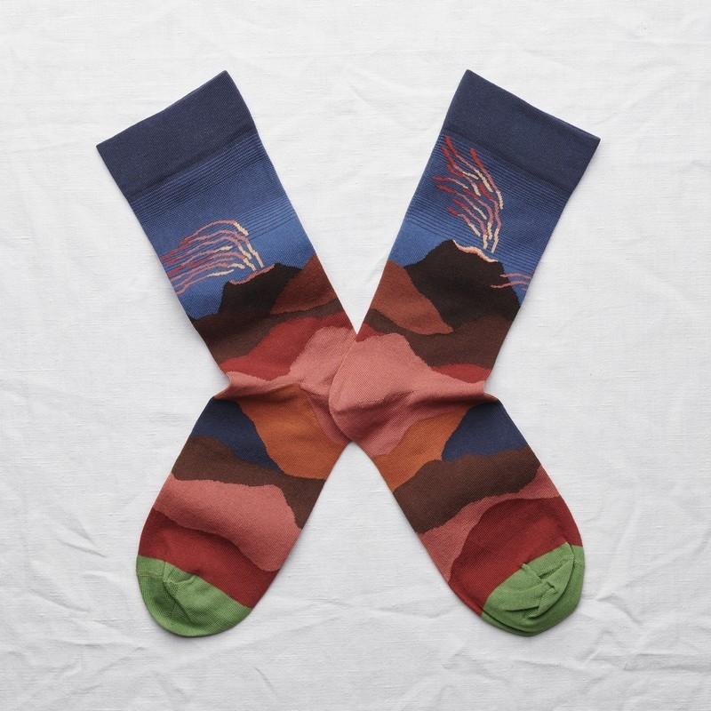 socks - bonne maison -  Volcano - Slate - women - men - mixed