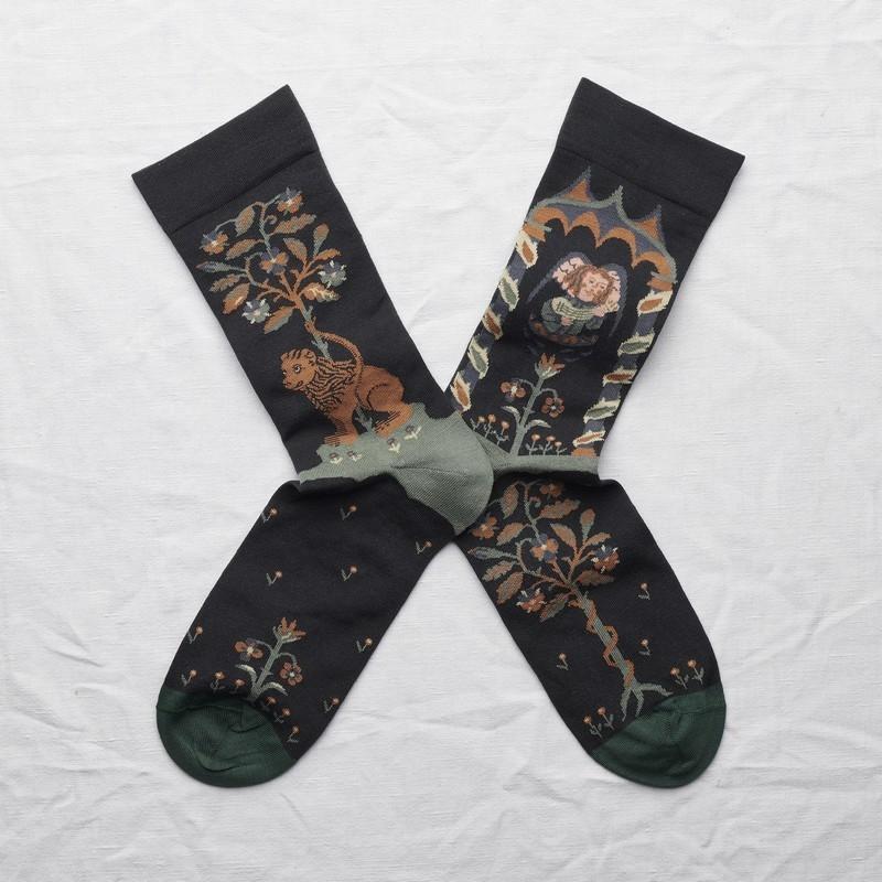 chaussettes - bonne maison -  Ange - Faux noir - femme - homme - mixte