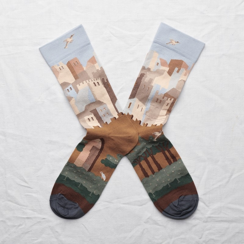 socks - bonne maison -  Castle - Sky - women - men - mixed