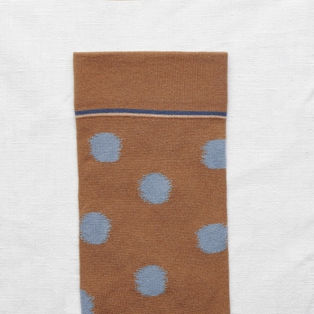 socks - bonne maison -  Polka Dot - Caramel - women - men - mixed