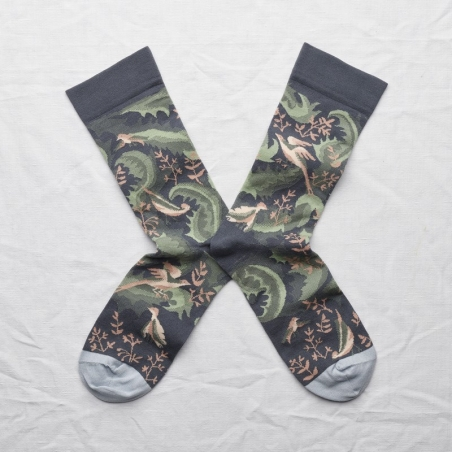 chaussettes - bonne maison -  Oiseaux - Acier - femme - homme - mixte