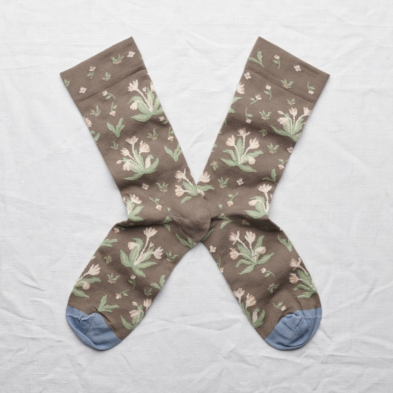socks - bonne maison -  Bouquet - Taupe - women - men - mixed