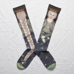 chaussettes - bonne maison -  Tresse - Terre d'ombre - femme - homme - mixte