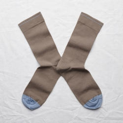 socks - bonne maison -  Plain - Taupe - women - men - mixed