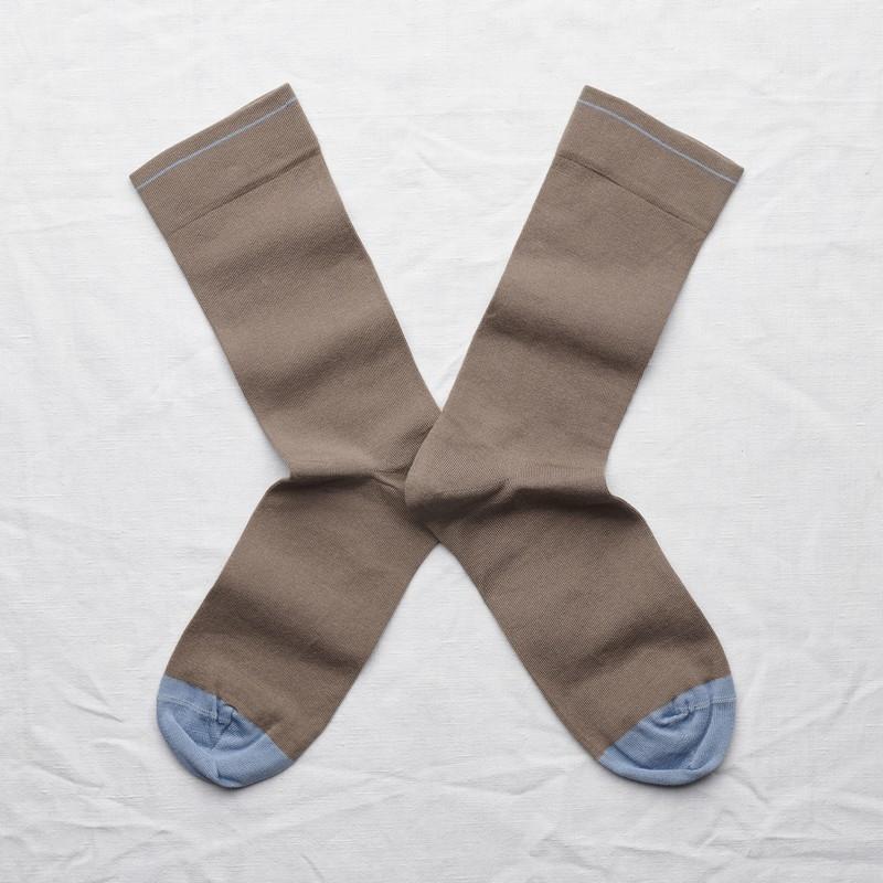 chaussettes - bonne maison -  Taupe - Uni - femme - homme - mixte